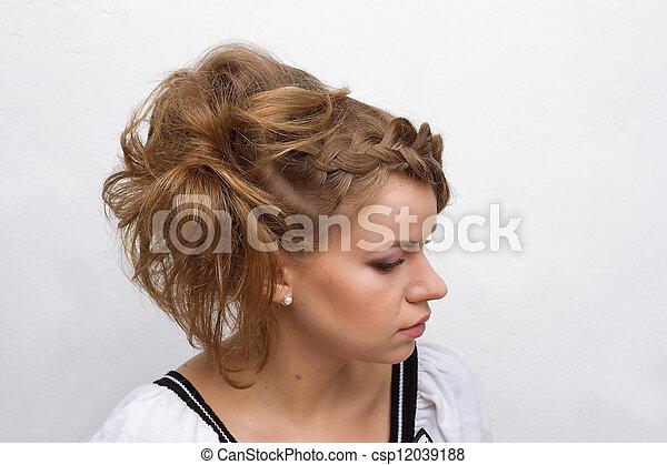 fashion woman with beautiful makeup - csp12039188