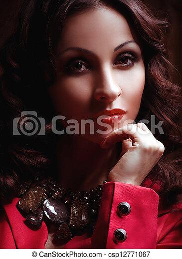 Fashion woman with jewelry bijouter - csp12771067