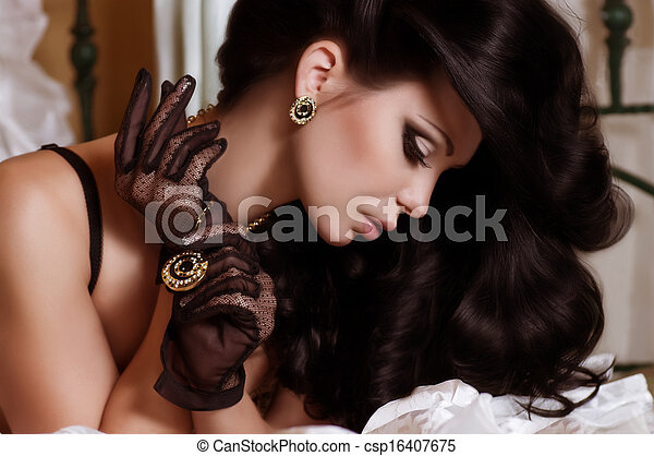 Fashion woman with jewelry - csp16407675