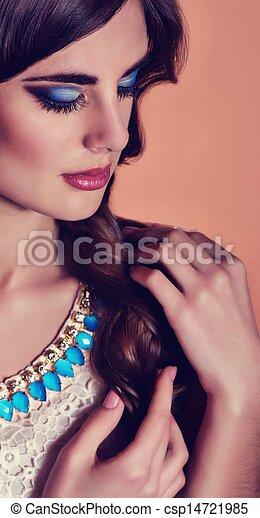 Fashion woman with jewelry - csp14721985