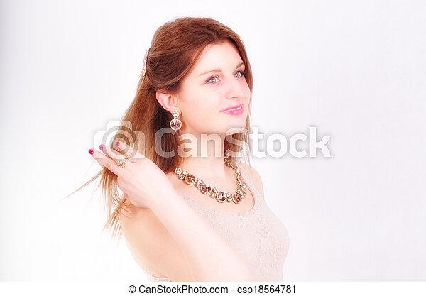 fashion woman with  jewelry - csp18564781