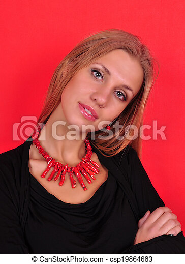 Fashion woman with jewelry - csp19864683