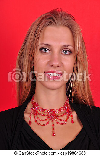 Fashion woman with jewelry - csp19864688