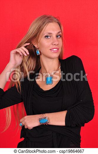 Fashion woman with jewelry - csp19864667