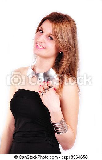 fashion woman with  jewelry - csp18564658