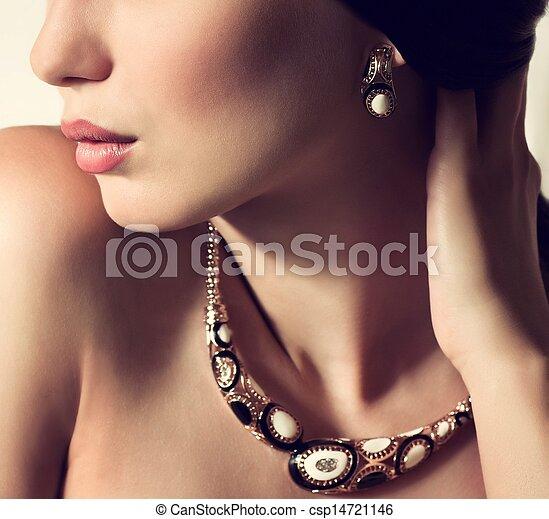 Fashion woman with jewelry - csp14721146