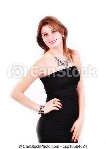 fashion woman with  jewelry - csp18564624