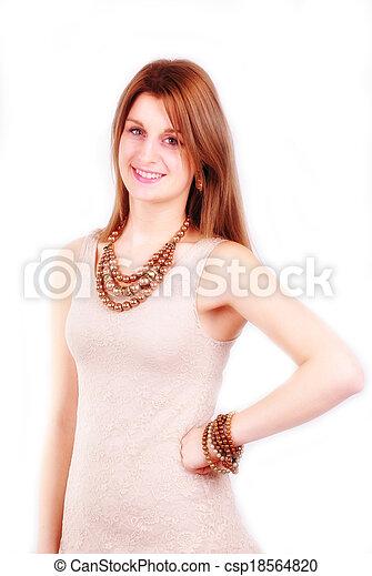 fashion woman with  jewelry - csp18564820