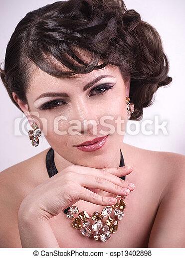 Fashion woman with jewelry - csp13402898