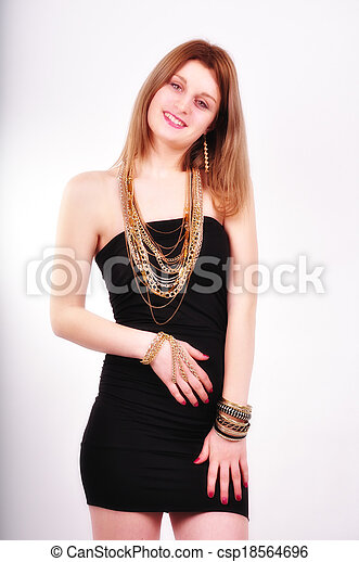 fashion woman with  jewelry - csp18564696