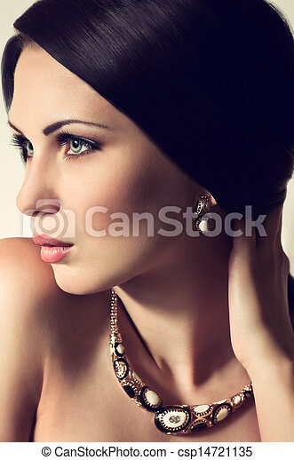 Fashion woman with jewelry - csp14721135