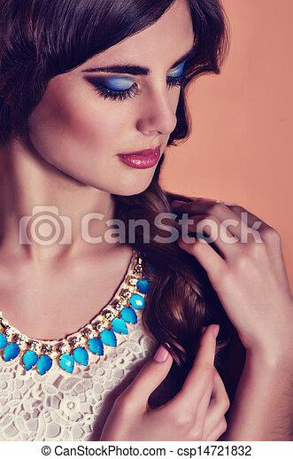 Fashion woman with jewelry - csp14721832