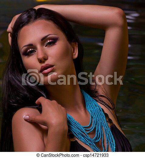 Fashion woman with jewelry - csp14721933
