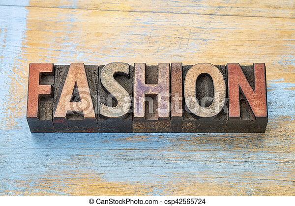 fashion word wood type - csp42565724