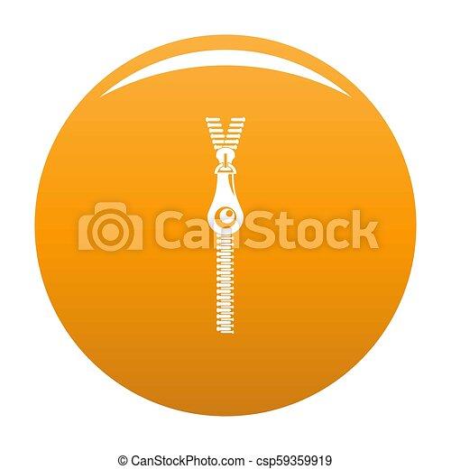 Fashion zip icon orange - csp59359919