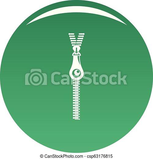 Fashion zip icon vector green - csp63176815
