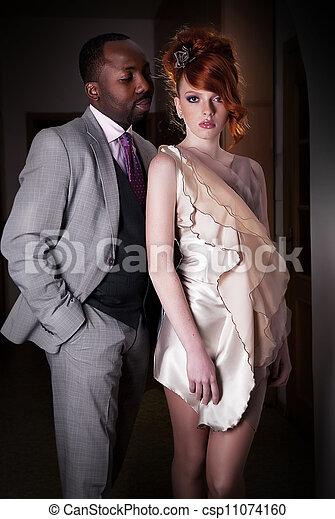 Redhead With Black Man