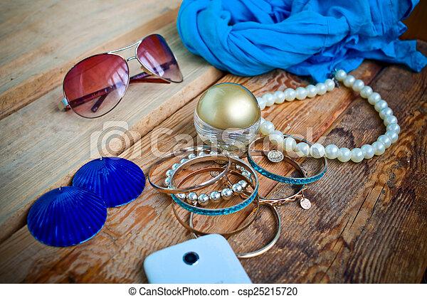 Fashionable female accessories - csp25215720