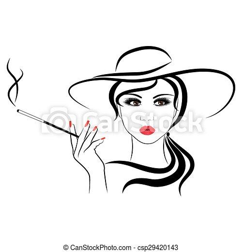 fashionable girl - csp29420143