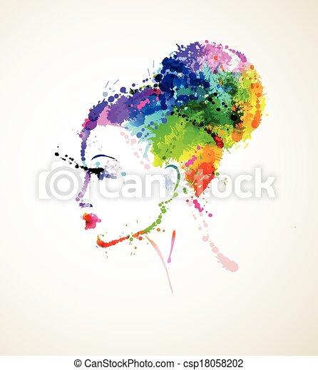 fashionable girl - csp18058202