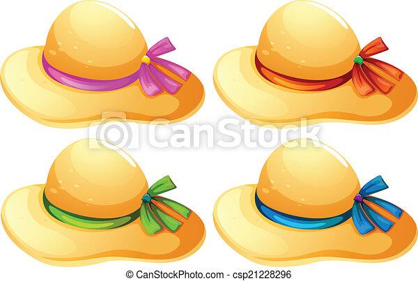 Fashionable hats - csp21228296