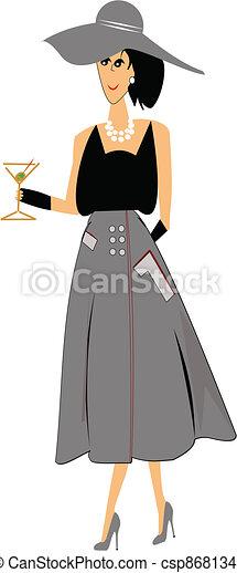 fashionable lady - csp8681349