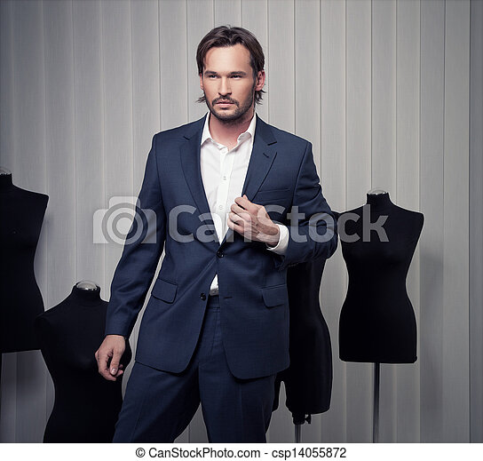 Fashionable Man in Suit - csp14055872