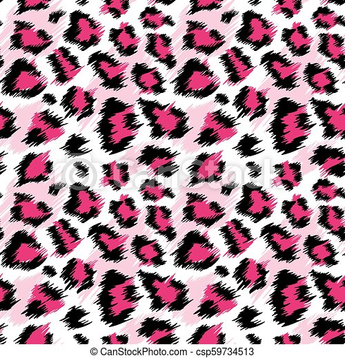 Fashionable Pink Leopard Seamless Pattern Stylized Spotted Leopard Skin Background For Fashion Print Wallpaper Fabric Vector Illustration