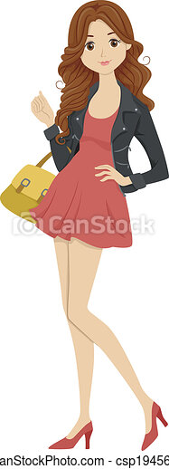 Fashionable Student - csp19456474