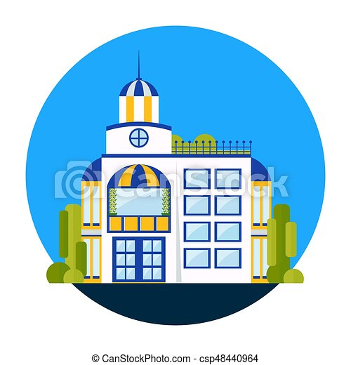 fashionable white house residential building and house clip art rh canstockphoto com white house vector free white house vector clip art free