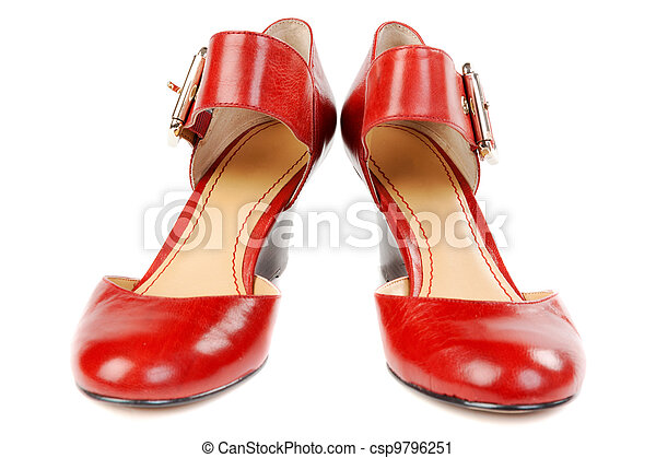 Fashionable women's red shoes - csp9796251