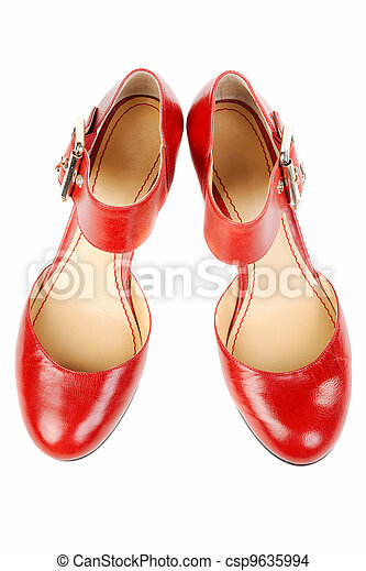 Fashionable women's red shoes - csp9635994