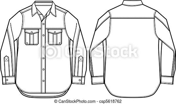 fason, koszula, ilustracja, mężczyźni - csp5618762