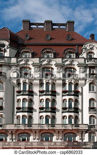 fassad beautiful old building - csp6862033