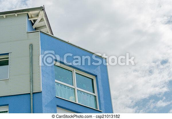 Fassade Modern fassade haus modern blaues gebaut haus modern bilder