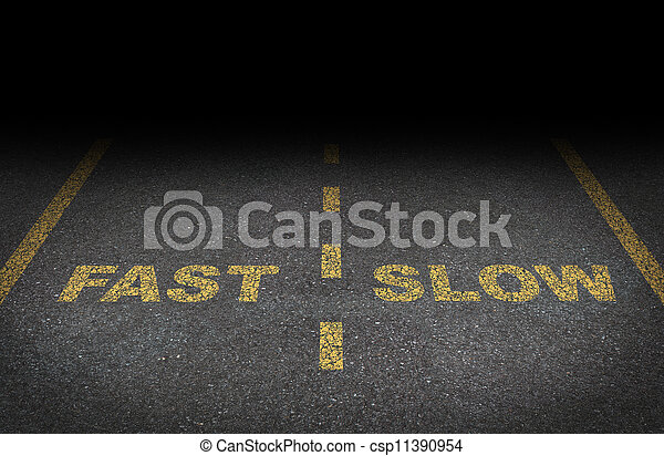 Fast And Slow Lanes - csp11390954