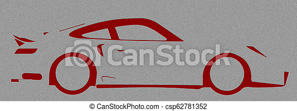 Fast Car Abstract - csp62781352