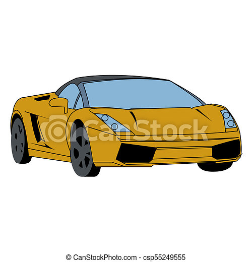 Fast car speedster vector illustration.