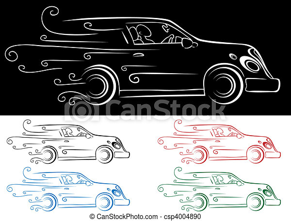 Fast car vector clipart - Search Illustration, Drawings and EPS ...