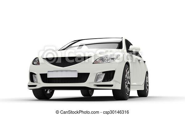 Fast car white.