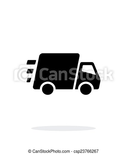 Fast delivery Truck icon on white background. - csp23766267
