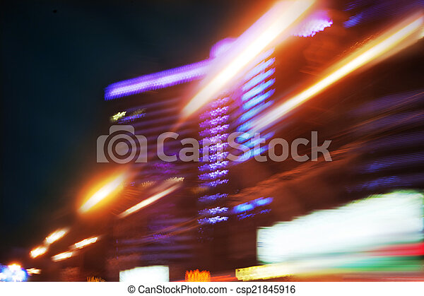 fast driving in the night city - csp21845916