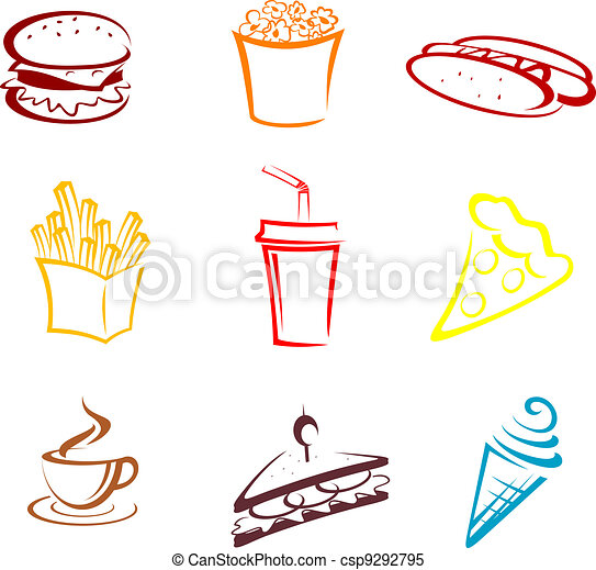 Fast food and snacks - csp9292795