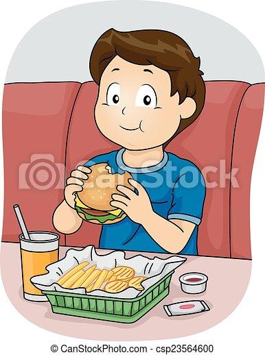 Fast Food Boy - csp23564600