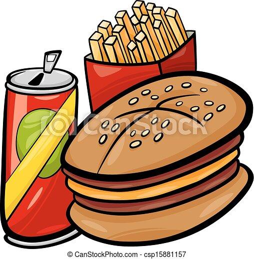 fast food cartoon clip art cartoon illustration of fast food set rh canstockphoto com junk food clipart junk food clipart black and white