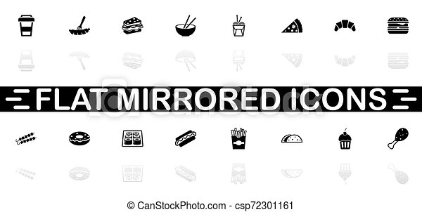 Fast Food - Flat Vector Icons - csp72301161