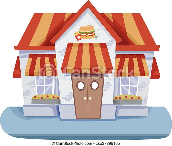 Fast Food House - csp37299185