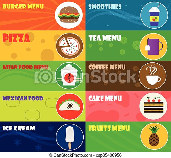 Fast food icons - csp35406956
