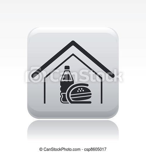 fast-food, isolé, illustration, unique, vecteur, icône - csp8605017