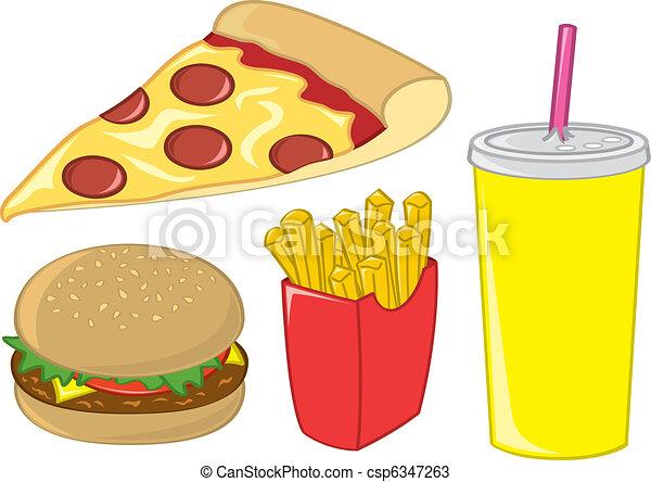 Fast Food Items - csp6347263
